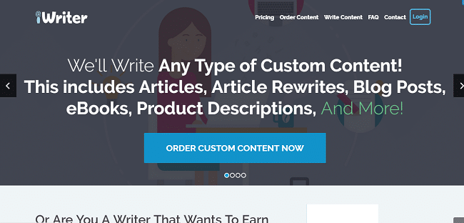 content writing services - iWriter