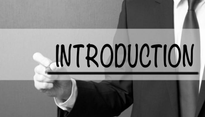 introduction must be catchy