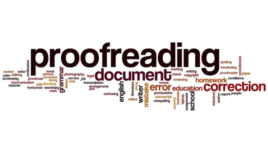 proofreading your content